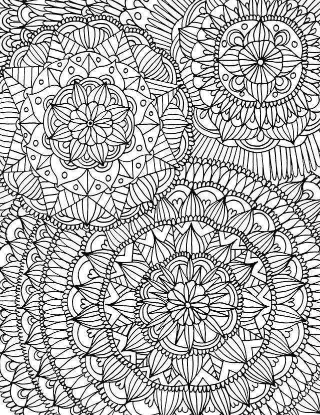 Рисунки для релаксации раскраски распечатать