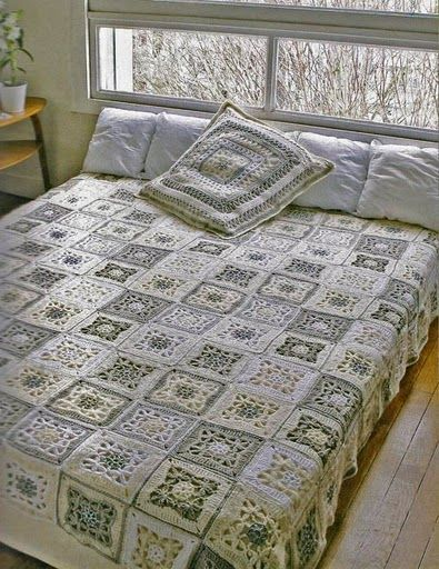 Pretty bedspread with diagram ♥ <3 | Crochet to make in 2015 ...