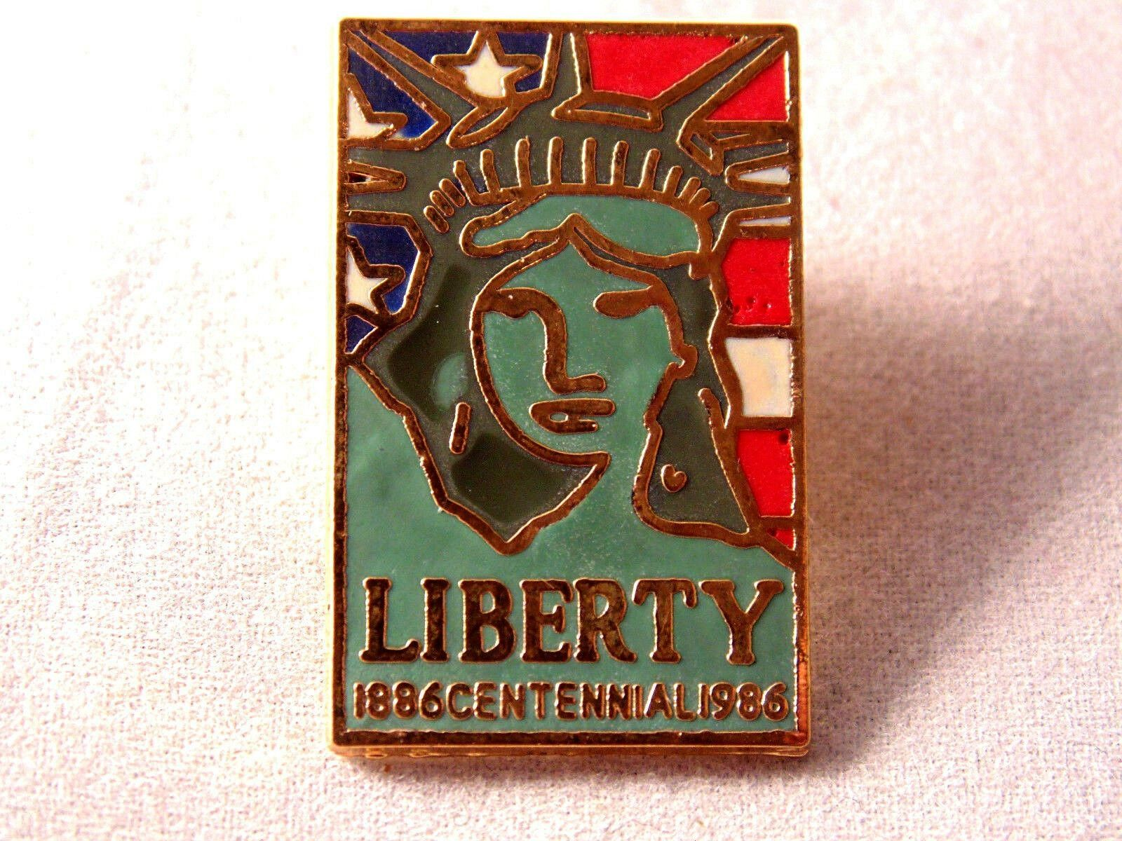 1886 Centennial 1986 Lapel Pin Collectible Pinback Statue New York USA Liberty 1886 Centennial 1986 Lapel Pin Features Lady Liberty and The American Flag in the backgroun...