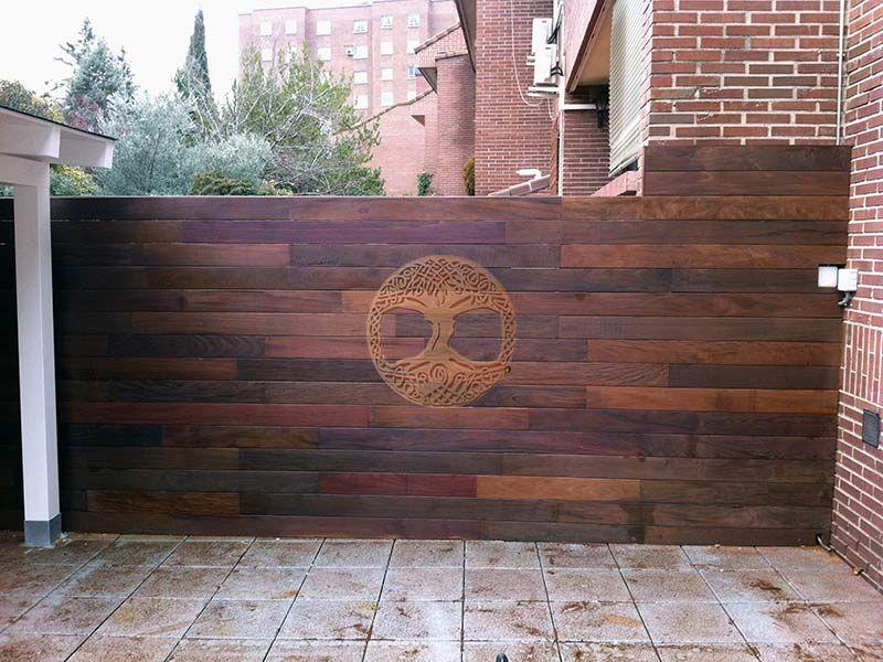 Vallas de madera 8 reforma pinterest vallas de madera madera y baranda madera - Verjas de madera para jardin ...