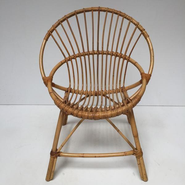 vintage rattan wicker chair fauteuil rotin vintage coquille free delivery uk livraison gratuite - Fauteuil Rotin Vintage