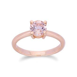 Gemondo Morganite Ring, 9ct Rose Gold 0.18ct Morganite & Diamond Floral Ring