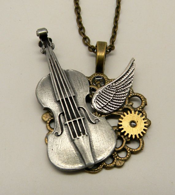 I ordered one of these from Etsy because I love playing my violin!  https://www.etsy.com/listing/178914075/steampunk-jewelry-violin-necklace