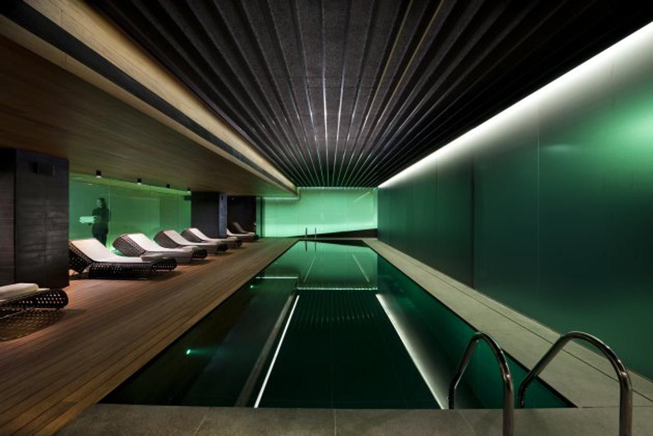indoor swimming pool lighting. 2013 Stunning Green Indoor Swimming Pool, Deeps In Black And Lightens To Grey. Organic Pool Lighting