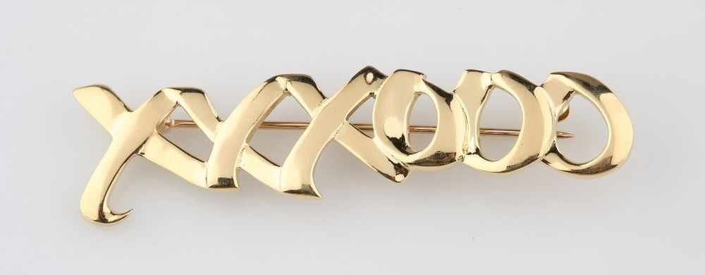 ec9d3f522 Tiffany & Co Paloma Picasso 18k Gold Pin Xs & Os Brooch Hugs & Kisses  XXXOOO #TiffanyCo