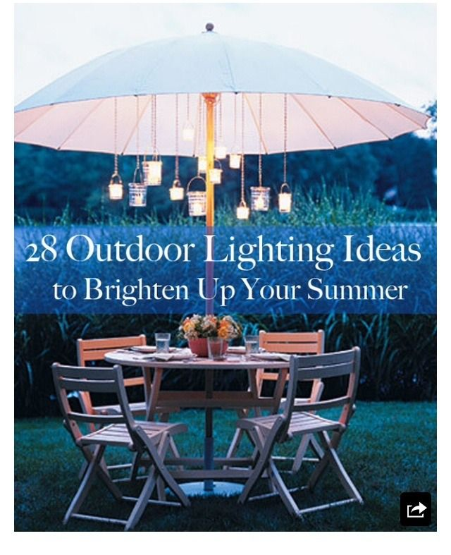 28 Outdoor Lighting Diys To Brighten Up Your Summer: Brighten Up Your Summer With These 28 Outdoor DIYs