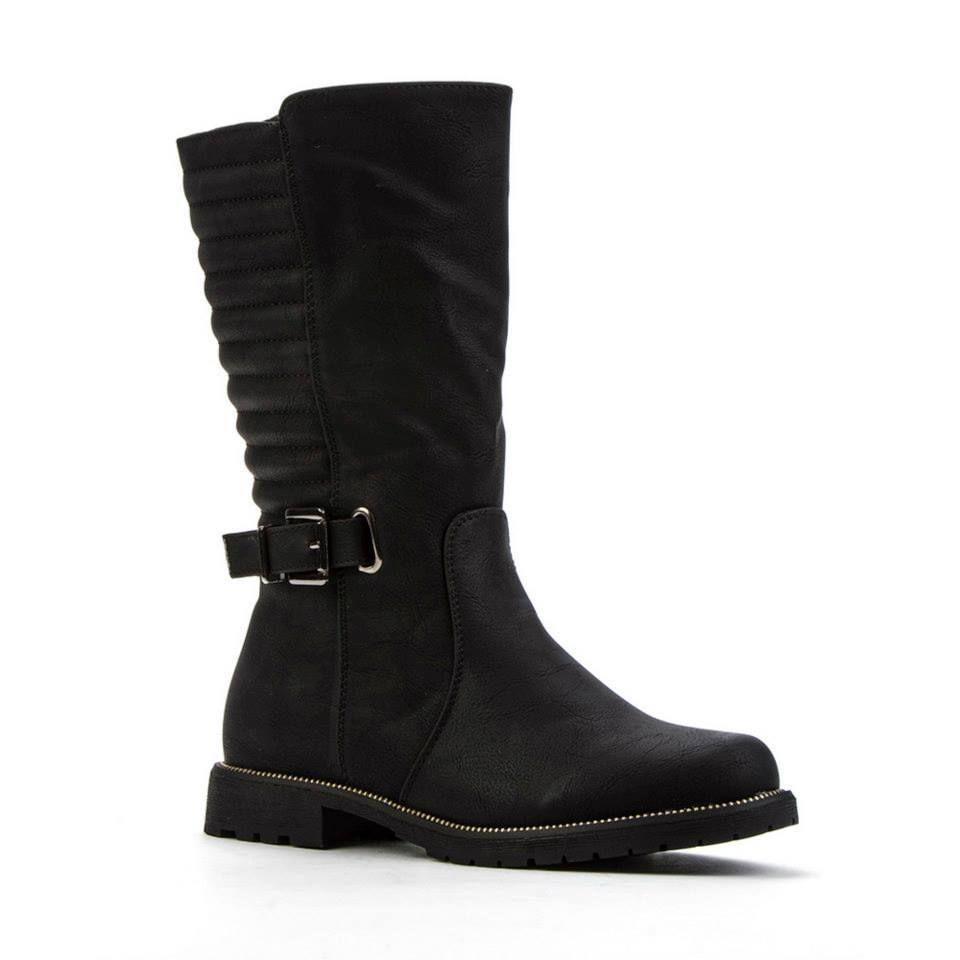 200c99aba36 Queen Tina Black Buckled Zip Calf Boots Size UK 8 EU 41 New | calf ...