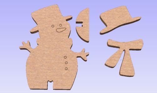 Snowman-MDF-wooden-freestanding-Decoration-Unpainted-Christmas-Xmas-290mm-Tall