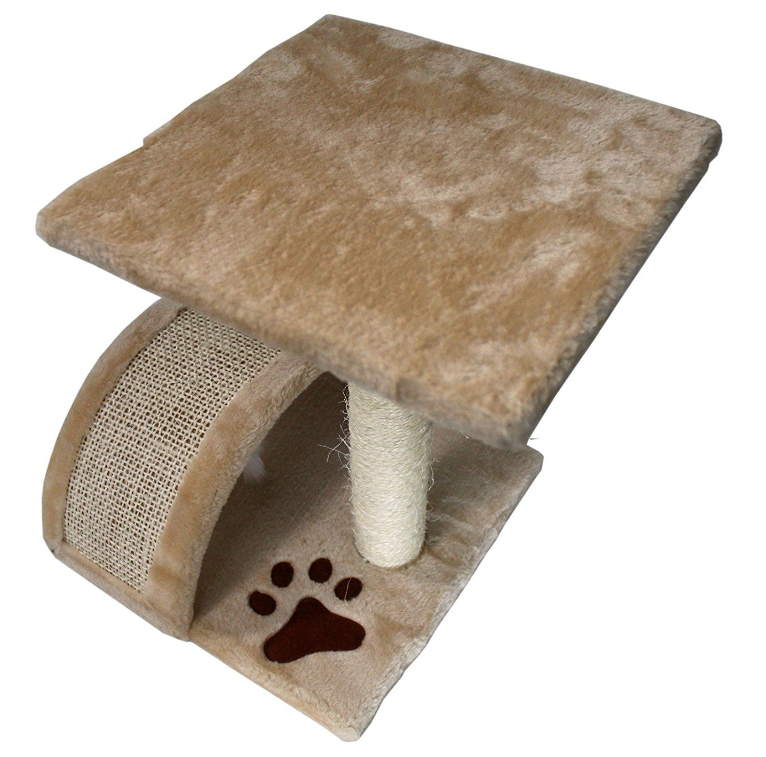 15 Small Cat Tree Sisal Scratching Post Furniture Playhouse Pet Bed Kitten Toy Cat Tower Condo For Kittens Beige From Fl Small Cat Tree Kitten Toys Cat Tree