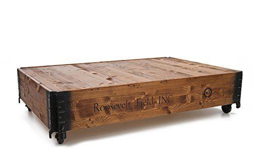 Coffre table basse en bois rétro style maison de campagne shabby