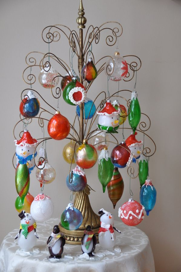 All pulled and blown sugar ornaments!