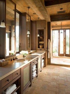 RUSTIC FLOOR....Napa Wine Country - contemporary - bathroom - san francisco - John K. Anderson Design