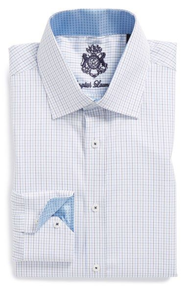 English Laundry Trim Fit Check Dress Shirt Shirt Dress Mens
