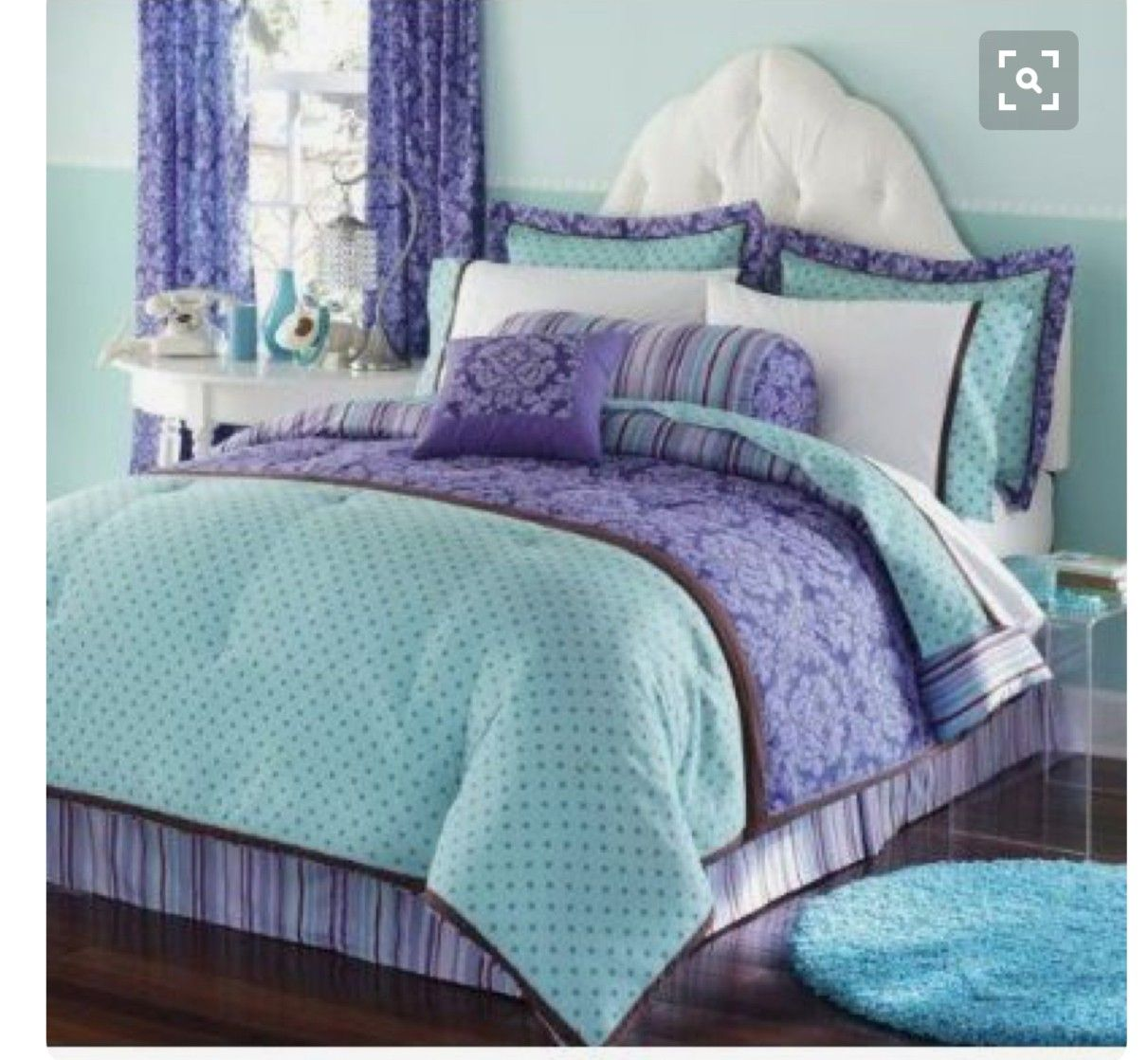 Purple And Teal Bedding On The Hunt Decor In 2019 Bed