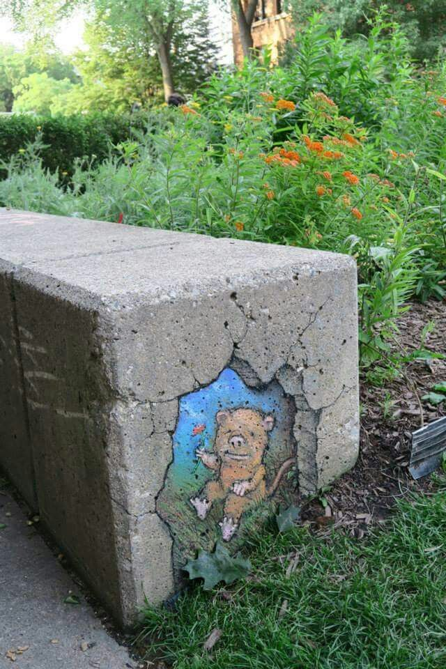 David Zinn and my morning coffee.  What a combination.
