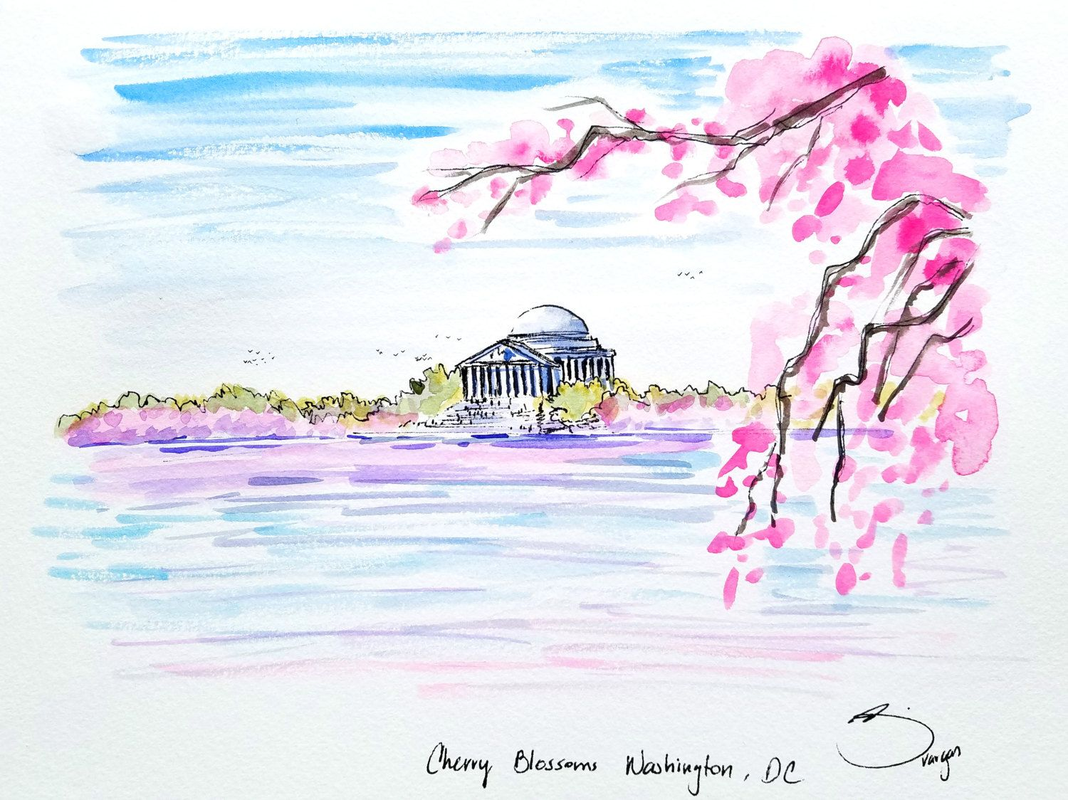 Image result for watercolor paintings dc