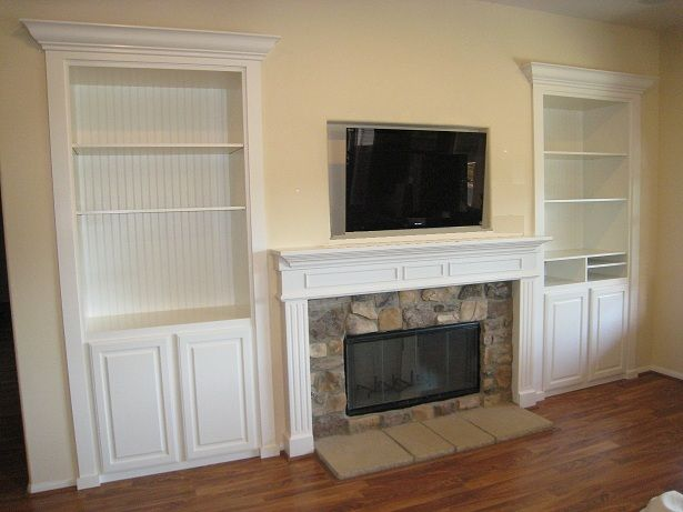 Mantels With Tv Above | ... build and install Wood Fireplace ...
