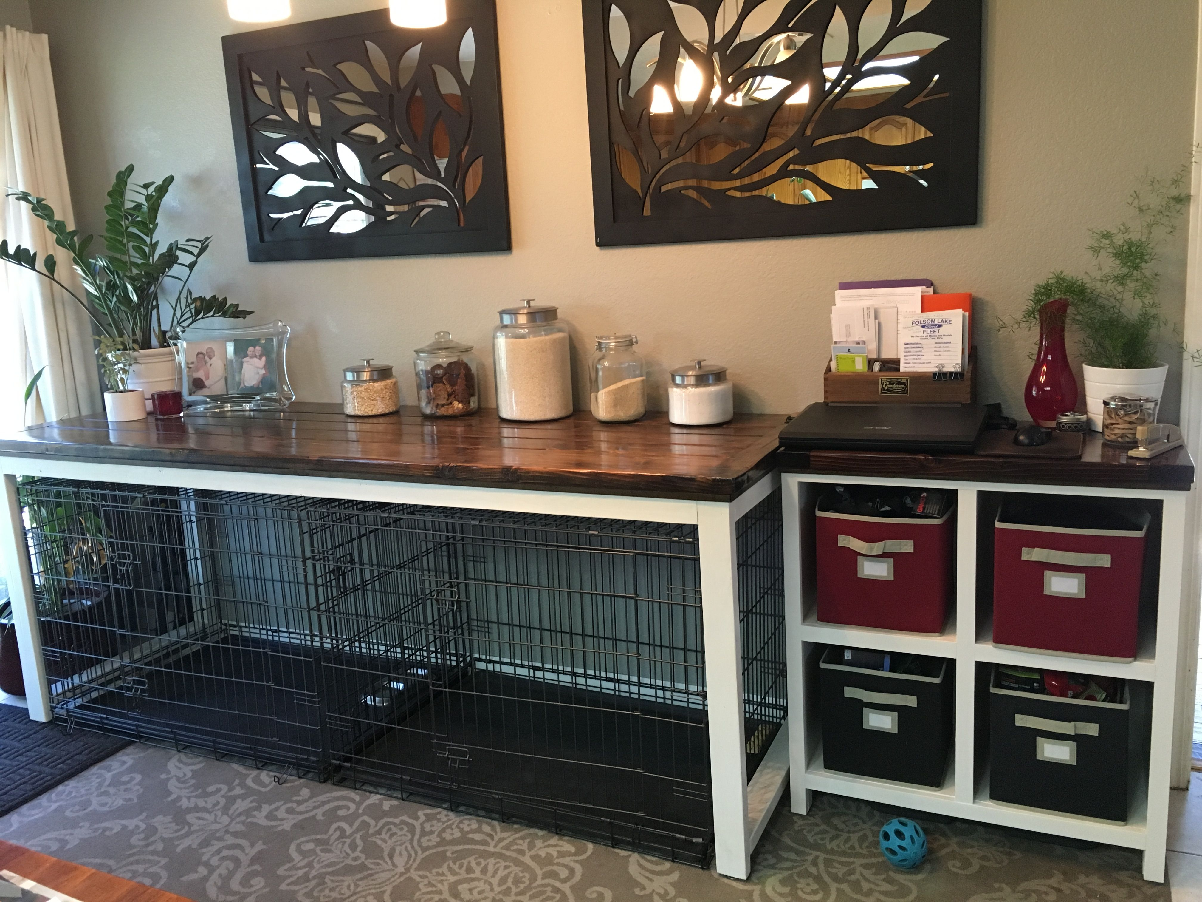 table to go over dog crate