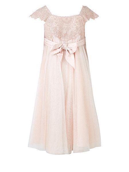 Monsoon Girls Estella Dress Pink - House of Fraser | Princess ...