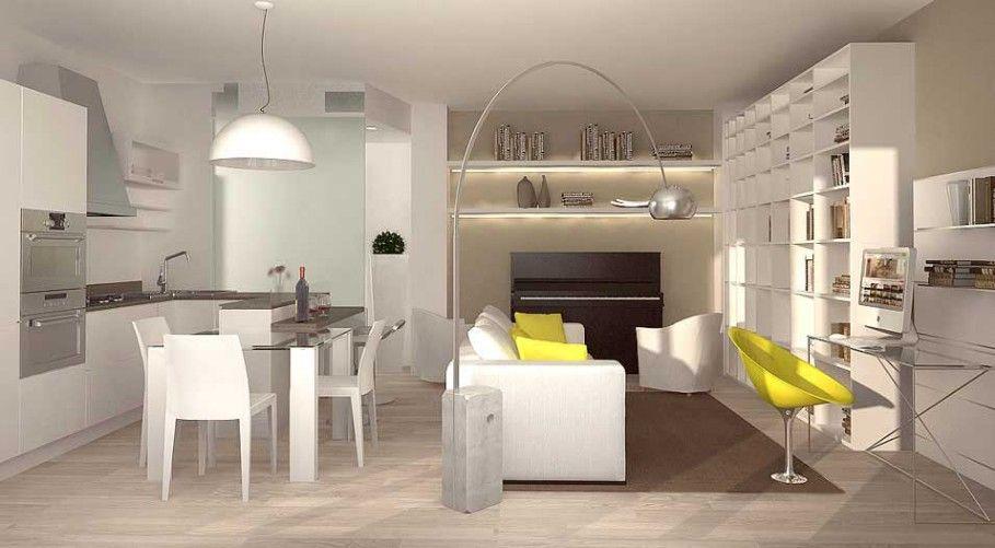 Arredare Bilocale ~ Arredare un appartamento di 45 mq mini appartamento moderno