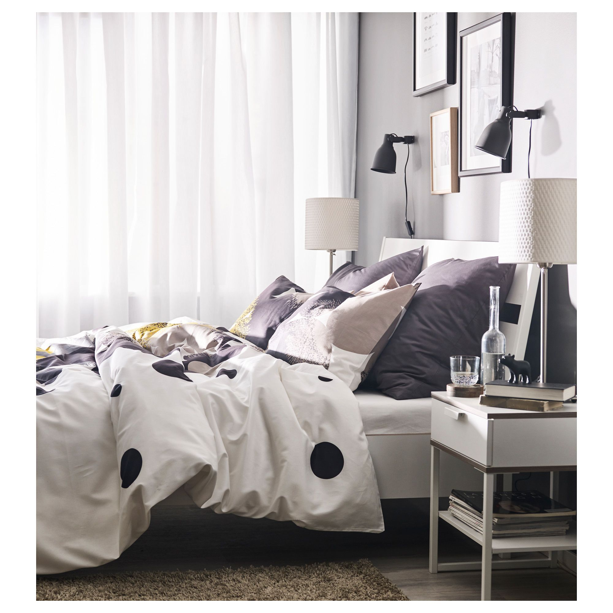 TRYSIL Bed frame white, Luröy Standard Double Ikea bed
