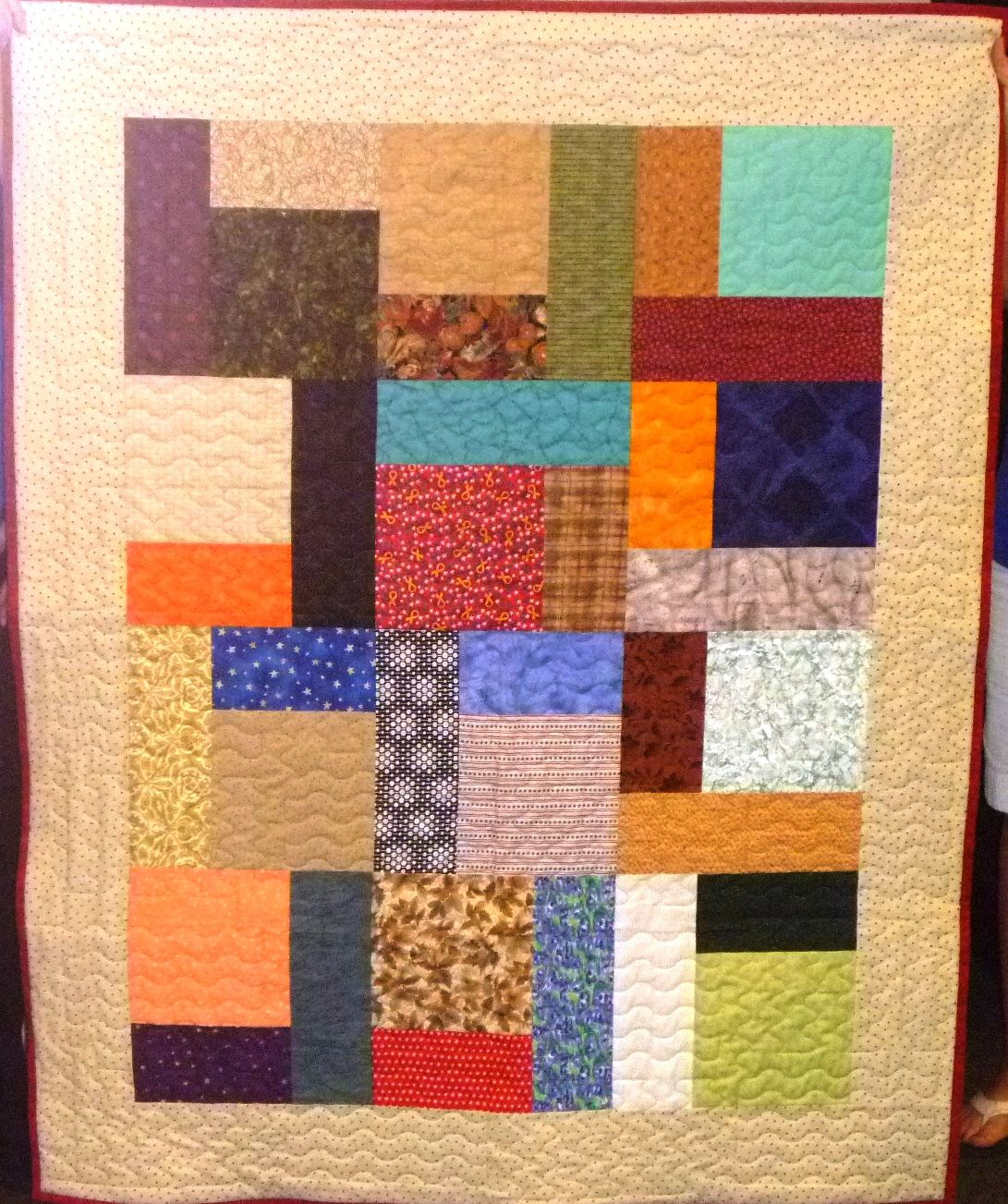 The Zig Zag Top Stitching Really Makes This Simple Quilt Top Zing Quilts Quilt Top Stitch