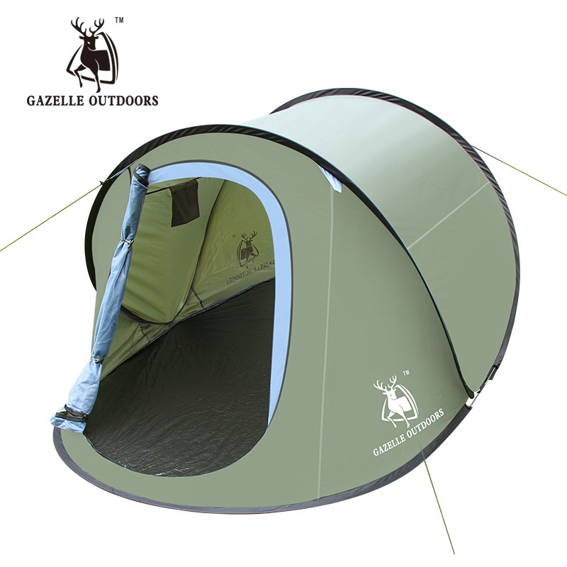 89.99$ Watch now - http://ali1xc.worldwells.pw/go.php?t=32726474758 - GAZELLE OUTDOORS Pop UP Lovers Beach Tents Camping Family Double Bivvy Waterproof ...