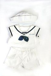 b297d9b9a24 US Navy Uniform Outfit Teddy Bear Clothes Fits Most 14