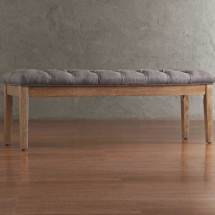 Silvestre Tufted Bench in Grey   Joss & Main   Domain Design   Pinterest