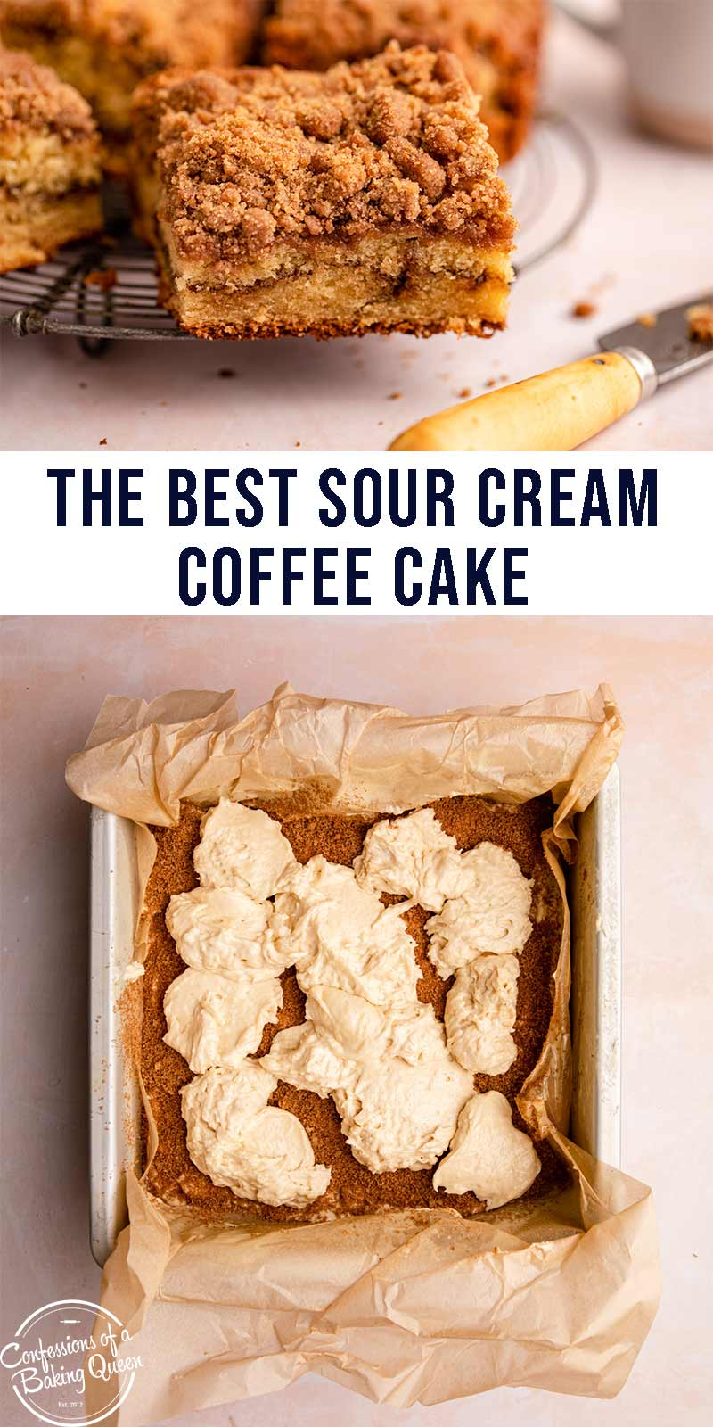 Sour Cream Coffee Cake Recipe In 2020 Sour Cream Coffee Cake Dessert Recipes Easy Easy Gluten Free Desserts