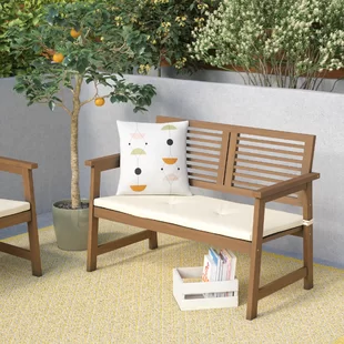Small Outdoor Garden Bench Wayfair With Images Wooden Garden Benches Wooden Garden Garden Bench