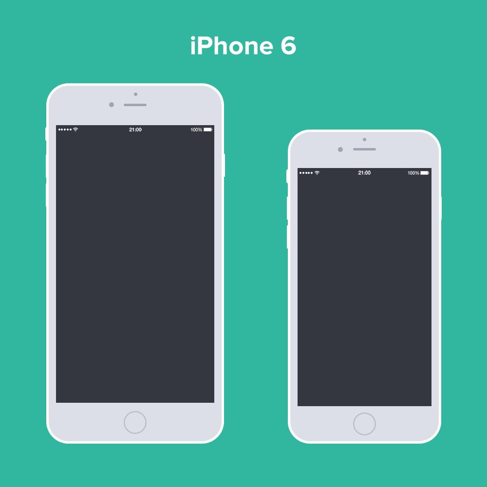 Free Psd Iphone 6 Flat Design Mockup Free Mockups Pinterest