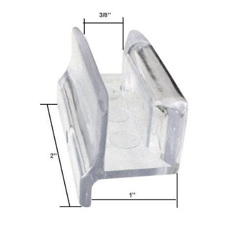 Clear Acrylic Sliding Shower Door Bottom Guide With Screw Model