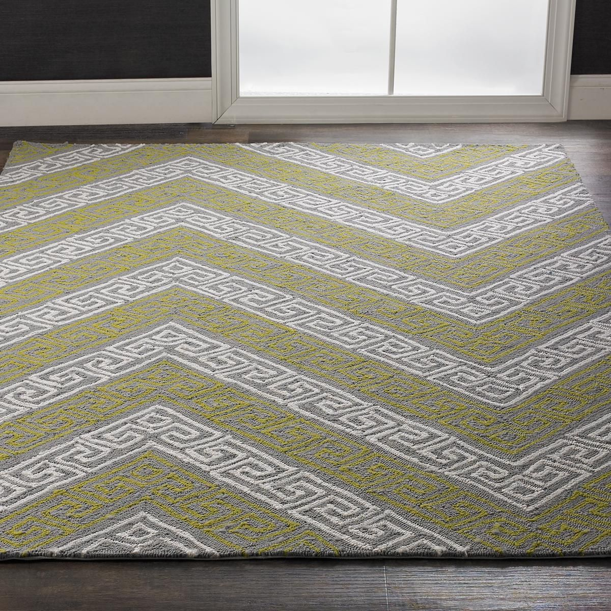 Chic Indoor Outdoor Stripe Rugs 6 Colors Available: Greek Key Chevron Indoor Outdoor Rug This Chevron Stripe
