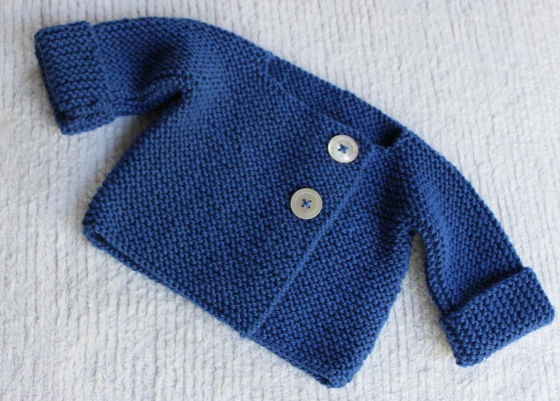 86b06ec85cba Bebeknits Simple French Style Lightweight Baby Cardigan
