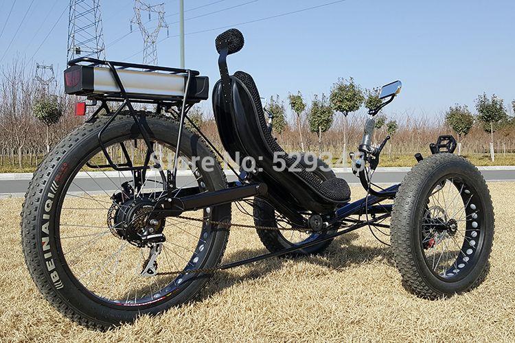 Zzmerck電動輪胎斜躺三輪車 5 Trike Bicycle Motorized Trike Trike