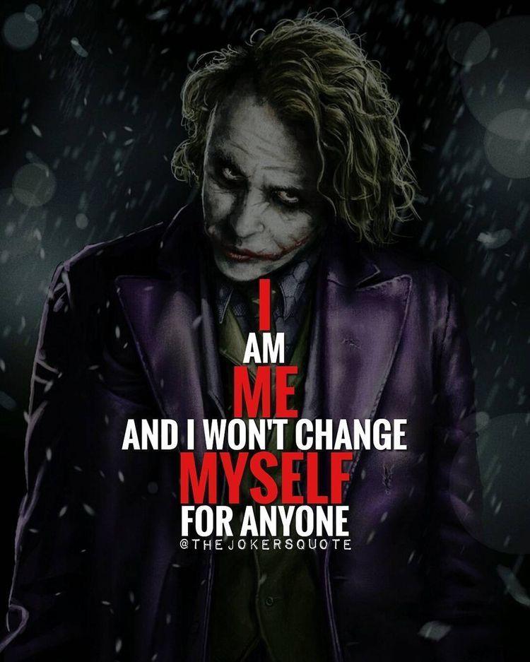 I Me Myself Joker Quotes Best Joker Quotes Villain Quote