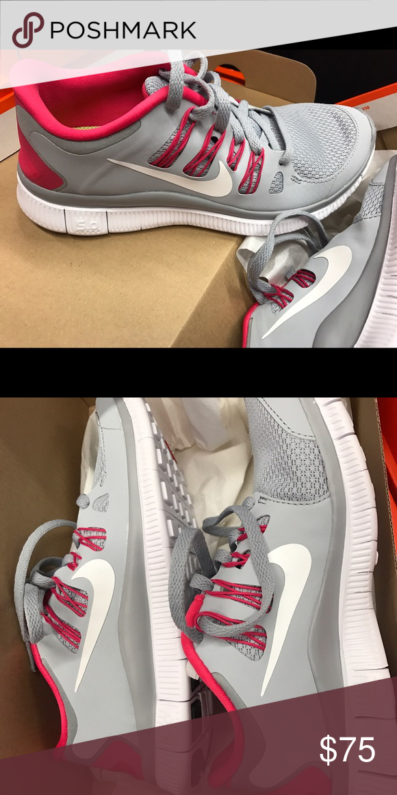 meet b76a5 eb024 Women s Nike Free Run 5.0 Brand New WMNS NIKE FREE 5.0 + WOLF GREY PINK  FORCE-WHITE Nike Shoes Sneakers