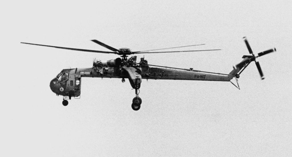 CH-54A the first helicopter I ever got to fly in! In 1984