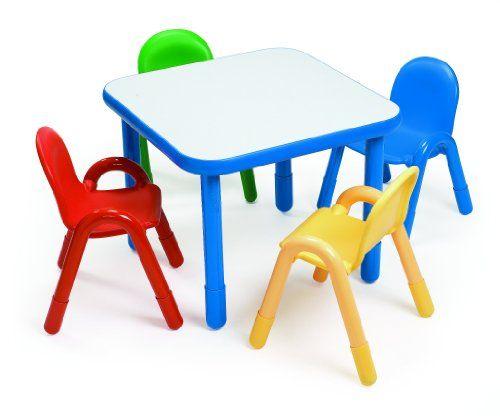 Angeles Preschool Table Chair Set Royal Blue Activity Table High Table And Chairs Preschool Tables Preschool table and chairs set