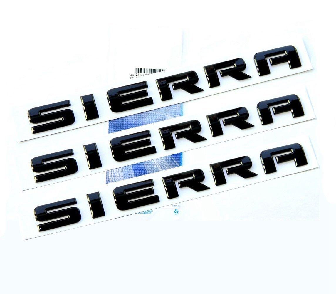 3x OEM Black SIERRA Rear Tailgate Door Emblems 2007-2016 GMC GM Nameplates F3U  sc 1 st  Pinterest & 3x OEM Black SIERRA Rear Tailgate Door Emblems 2007-2016 GMC GM ... pezcame.com