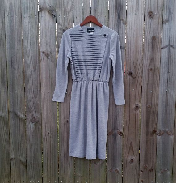 XS S Extra Small Vintage 70s 80s Grey by PinkCheetahVintage