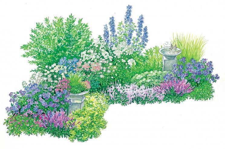 Gestaltungstipps für ein immerblühendes Beet Gärten, Sommer und - gemusegarten anlegen pflanzplan