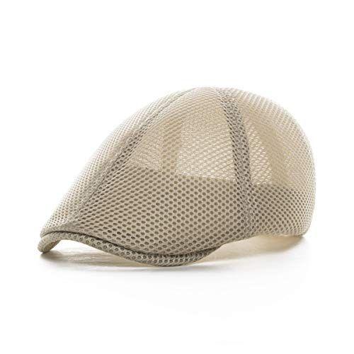 9abbe863bffdb  11.99 VOBOOM Men Breathable mesh Summer Hat Newsboy Beret Ivy Cap Cabbie Flat  Cap