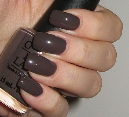 O.P.I. nail polish, color: You Don't Know Jacques (deep concrete greige)