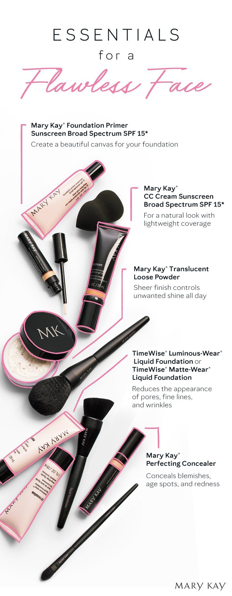 A flawless finish! From primer to powder, here are the makeup