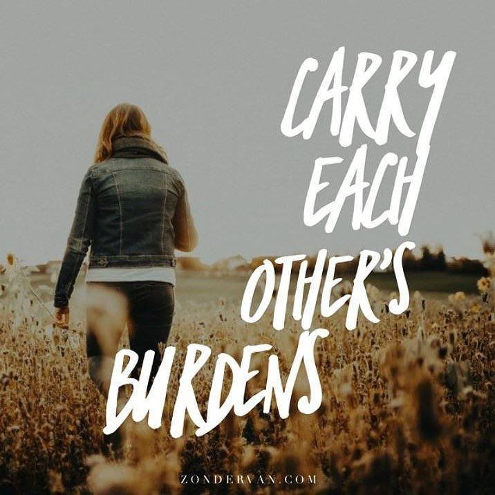 Image result for carry each others burdens in this way