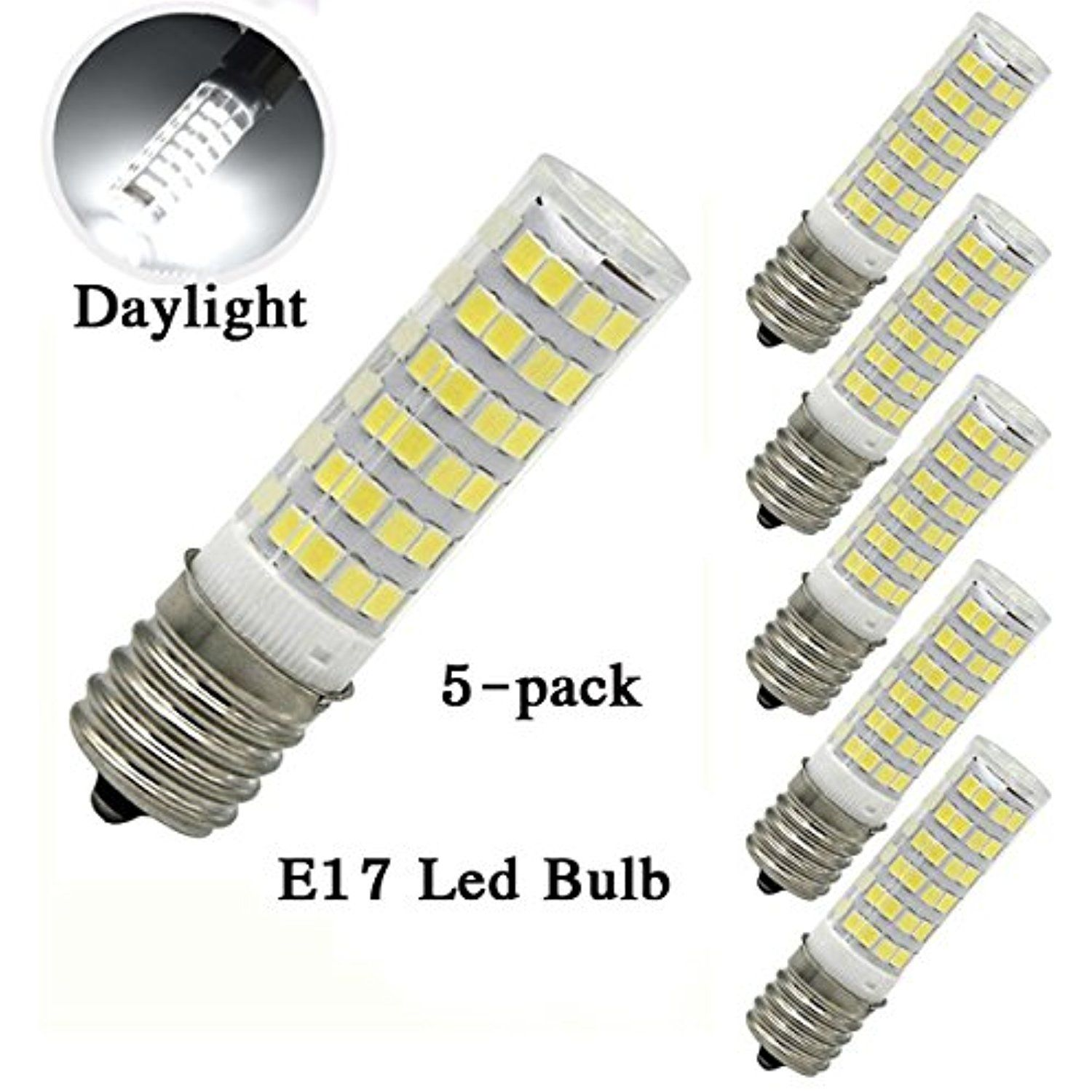 XYTGD Led E17 Bulb Dimmable for Ceiling fan 5W 110 120V 50W