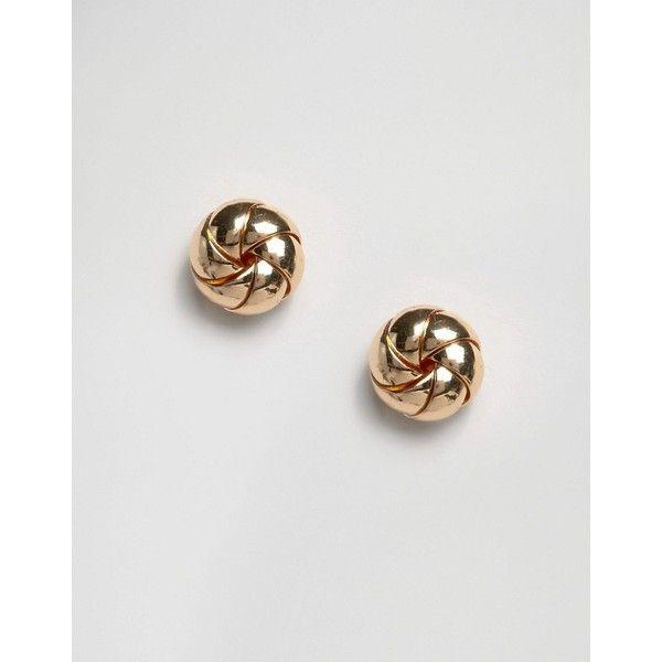 ASOS Donut Stud Earrings ($8.50) ❤ liked on Polyvore featuring jewelry, earrings, gold, asos jewelry, earrings jewelry, studded jewelry, bullet jewelry and bullet earrings