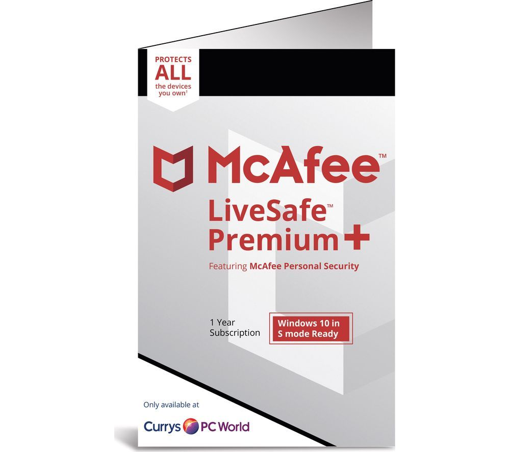 Mcafee Livesafe Premium 2020 1 Year For Unlimited Devices Web